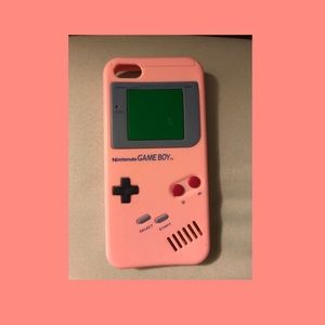 Pink classic gameboy iphone 5s case